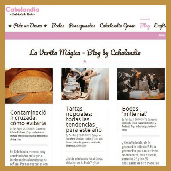 Blog corporativo de Cakelandia